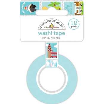 Doodlebug WISH YOU WERE HERE Washi Tape 6345