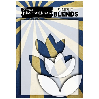 Brutus Monroe SIMPLE BLEND TULIP Stencil and Mask bru3457