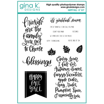 Gina K Designs HAPPY FALL Clear Stamps 0725
