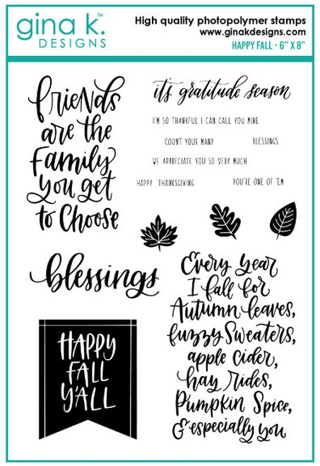 Gina K Designs HAPPY FALL Clear Stamps 0725 zoom image
