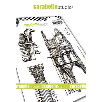 Carabelle Studio GARGOYLE AND GOTHIC ARCHITECTURE Cling Stamps sa60465