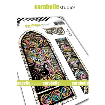 Carabelle Studio STAINED GLASS Cling Stamps sa60464