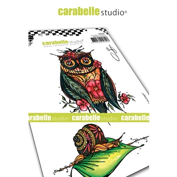 Carabelle Studio OWL AND SNAIL Cling Stamps sa60467