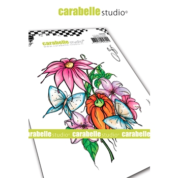 Carabelle Studio AMONG THE FLOWERS Cling Stamp sa60469