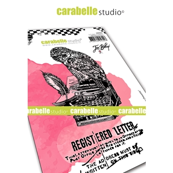Carabelle Studio LETTER FROM AN OWL Cling Stamps sa60474