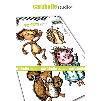 Carabelle Studio FUNNY ANIMALS Cling Stamps sa60475