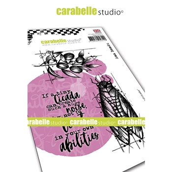 Carabelle Studio THE SINGING OF CICADAS Cling Stamps sa60479e