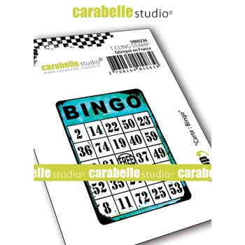 Carabelle Studio BINGO MAP Cling Stamp smi0236