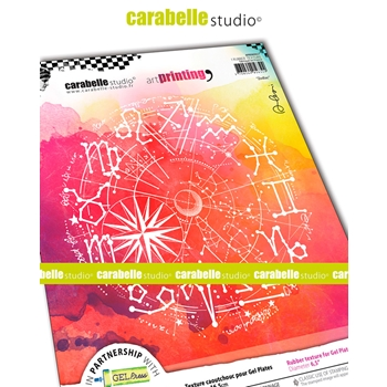 Carabelle Studio ZODIAC Art Printing Texture Plate Round apro60027