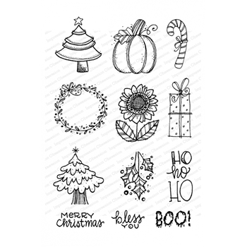 Impression Obsession Clear Stamps HOLIDAY ICONS CL980