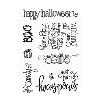 Impression Obsession Clear Stamps FALL WORDS CL976