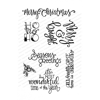 Impression Obsession Clear Stamps HOLIDAY WORDS CL971