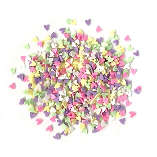 Buttons Galore and More Spinkletz DECO HEARTS Embellishments NK111 Preview Image