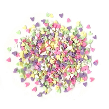 Buttons Galore and More Spinkletz DECO HEARTS Embellishments NK111