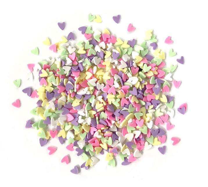 Buttons Galore and More Spinkletz DECO HEARTS Embellishments NK111 zoom image