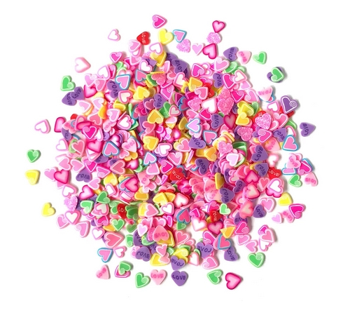 Buttons Galore and More Spinkletz CANDY HEARTS Embellishments NK110 zoom image
