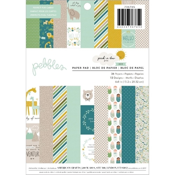 Pebbles Inc. BOY Peek a Boo You 6x8 Inch Paper Pad 736765