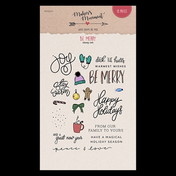 Maker's Movement BE MERRY Clear Stamp Set mos220