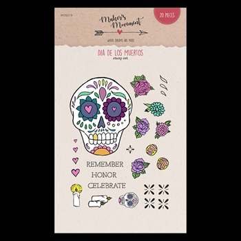 Maker's Movement DIA DE LOS MUERTOS Clear Stamp Set mos219