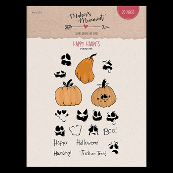 Maker's Movement HAPPY HAUNTS Clear Stamp Set mos218
