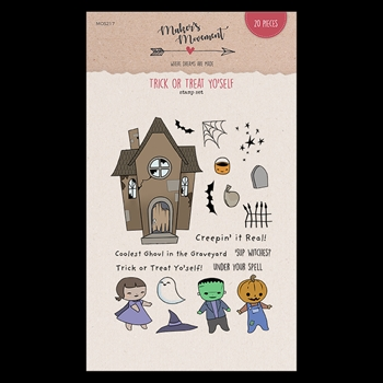 Maker's Movement TRICK OR TREAT YO'SELF Clear Stamp Set mos217*