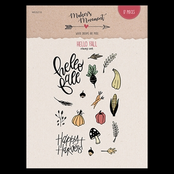 Maker's Movement HELLO FALL Clear Stamp Set mos216