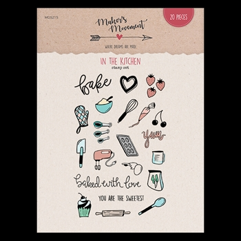 Maker's Movement IN THE KITCHEN Clear Stamp Set mos215*