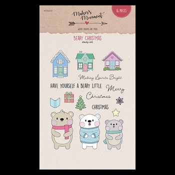 Maker's Movement BEARY CHRISTMAS Clear Stamp Set mos205