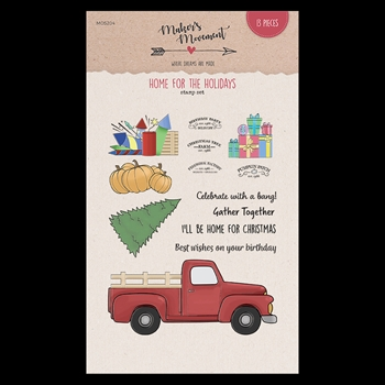 Maker's Movement HOME FOR THE HOLIDAYS Clear Stamp Set mos204