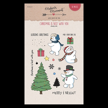 Maker's Movement CHRISTMAS IS BEST WITH YOU Clear Stamp Set mos203*