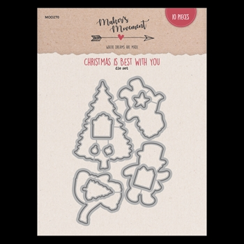 Maker's Movement CHRISTMAS IS BEST WITH YOU Die Set mod270