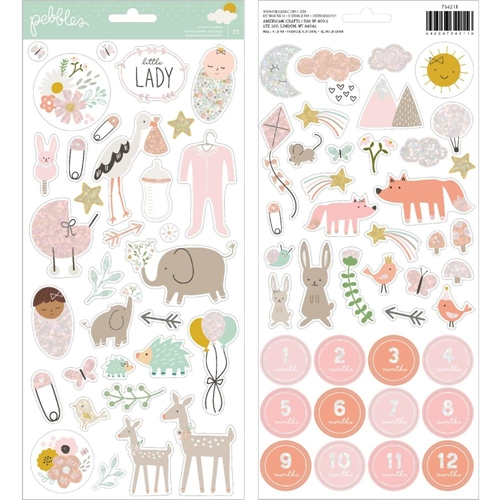 Pebbles Inc. GIRL ACCENT STICKERS Peek a Boo You 734211 Preview Image