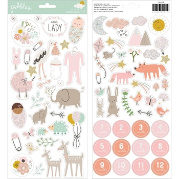 Pebbles Inc. GIRL ACCENT STICKERS Peek a Boo You 734211