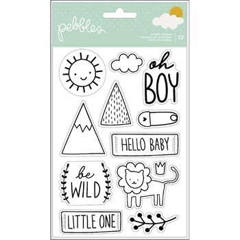 Pebbles Inc. BOY CLEAR STAMPS Peek a Boo You 736762