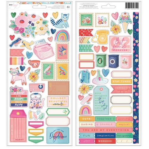 American Crafts Dear Lizzy CARDSTOCK STICKERS She's Magic 354819 Preview Image