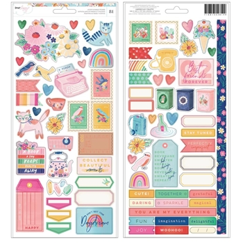 American Crafts Dear Lizzy CARDSTOCK STICKERS She's Magic 354819