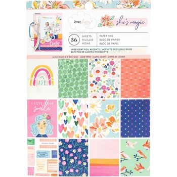 American Crafts Dear Lizzy SHE'S MAGIC 6x8 Inch Paper Pad 354818