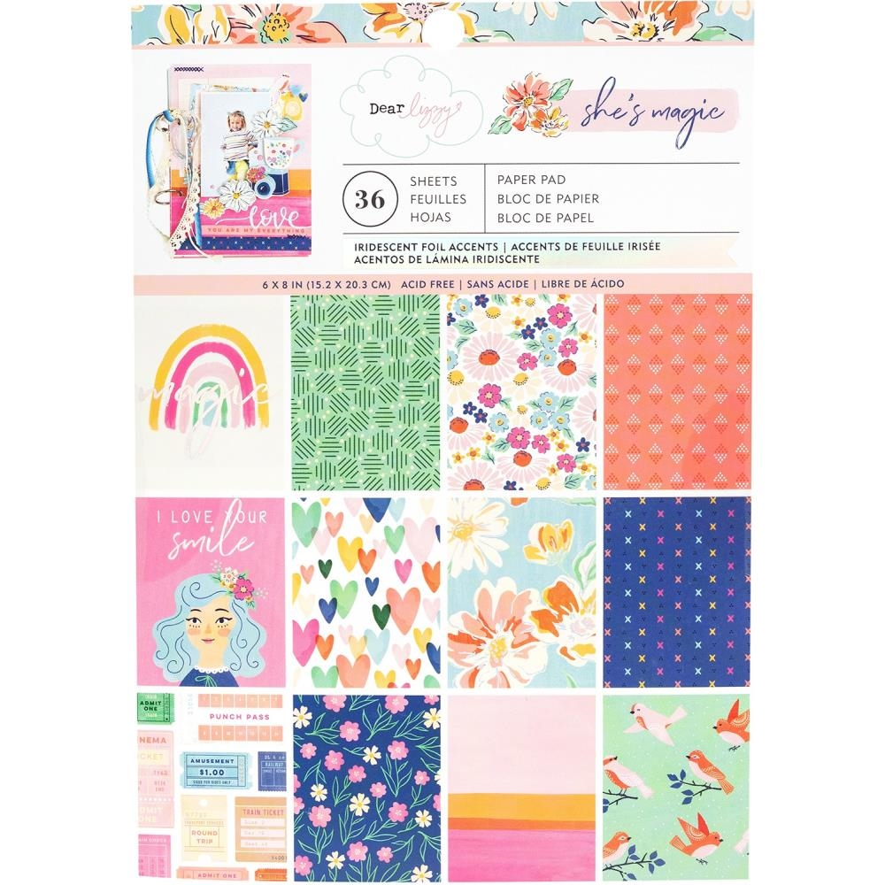 American Crafts Dear Lizzy SHE'S MAGIC 6x8 Inch Paper Pad 354818 zoom image