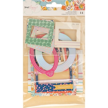 American Crafts Dear Lizzy CHIPBOARD FRAMES Die Cut Shapes She's Magic 354828