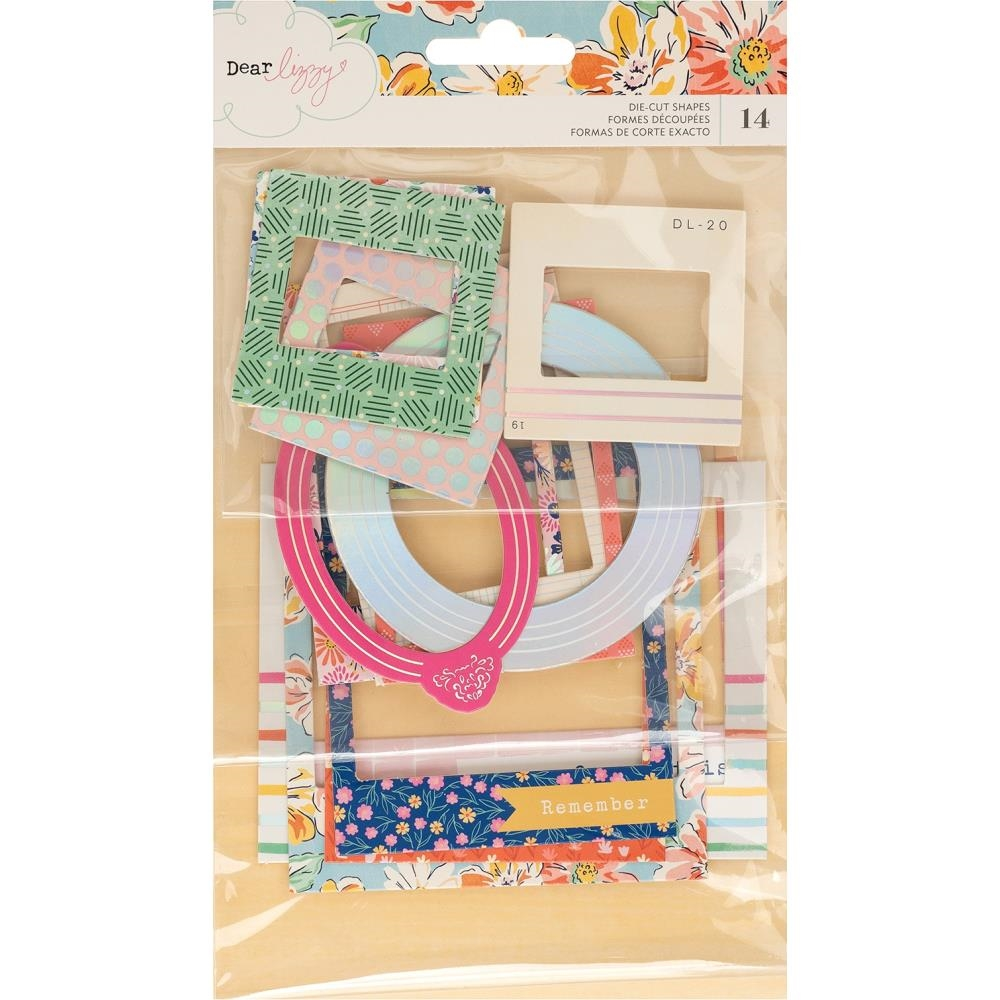 American Crafts Dear Lizzy CHIPBOARD FRAMES Die Cut Shapes She's Magic 354828 zoom image
