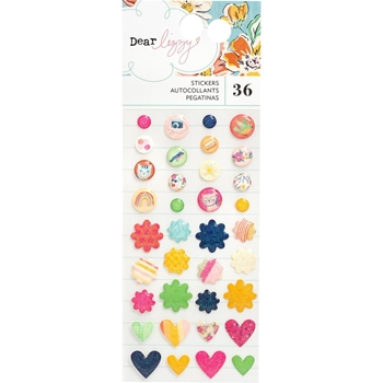 American Crafts Dear Lizzy ENAMEL STICKERS She's Magic 354825
