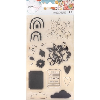 American Crafts Dear Lizzy SHE'S MAGIC Clear Stamps 354829