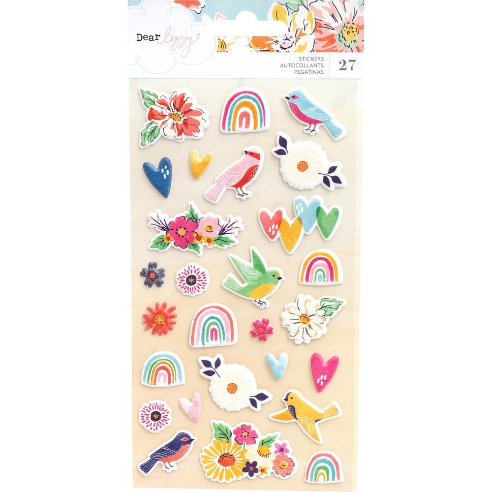 American Crafts Dear Lizzy PUFFY STICKERS She's Magic 354820 zoom image