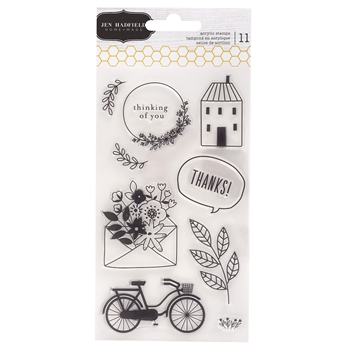 Pebbles Inc. Jen Hadfield THIS IS FAMILY Clear Stamps 734194*