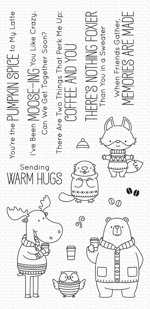 My Favorite Things SWEATER WEATHER IN THE WOODS Clear Stamps BB80 zoom image