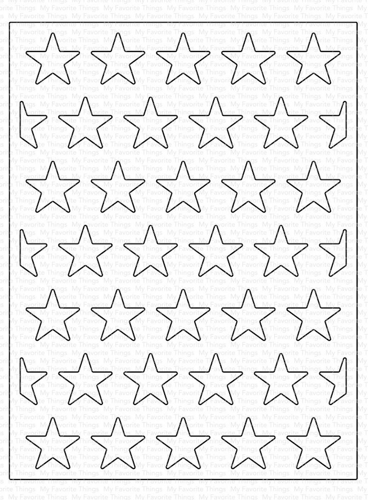 My Favorite Things ALL THE STARS COVER-UP Die-Namics MFT1590 zoom image
