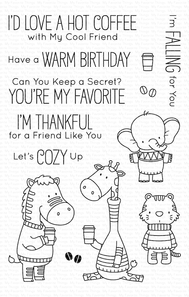 My Favorite Things SWEATER WEATHER ON SAFARI Clear Stamps BB79 zoom image