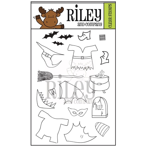 Riley and Company Clear Stamp Dress Up Riley HALLOWEEN 2 RCLR35 Preview Image