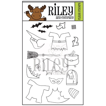 Riley and Company Clear Stamp Dress Up Riley HALLOWEEN 2 RCLR35