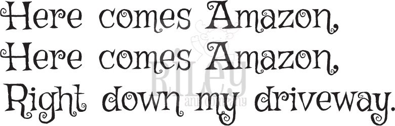 Riley And Company Funny Bones HERE COMES AMAZON Cling Rubber Stamp RWD-728 zoom image